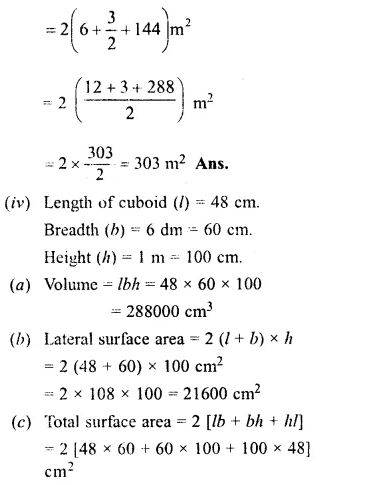 RS Aggarwal Class 8 Solutions Chapter 20 Volume and Surface Area of Solids Ex 20A 1.4