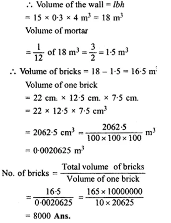 RS Aggarwal Class 8 Solutions Chapter 20 Volume and Surface Area of Solids Ex 20A 10.1