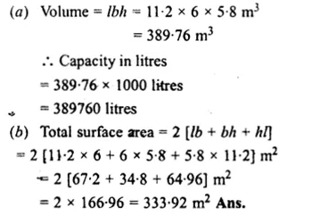 RS Aggarwal Class 8 Solutions Chapter 20 Volume and Surface Area of Solids Ex 20A 11.1