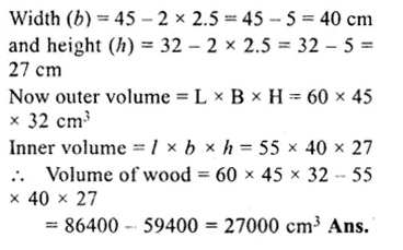RS Aggarwal Class 8 Solutions Chapter 20 Volume and Surface Area of Solids Ex 20A 20.1