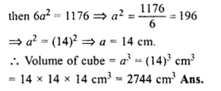 RS Aggarwal Class 8 Solutions Chapter 20 Volume and Surface Area of Solids Ex 20A 26.1