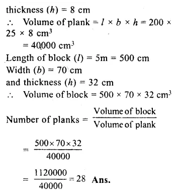 RS Aggarwal Class 8 Solutions Chapter 20 Volume and Surface Area of Solids Ex 20A 8.1