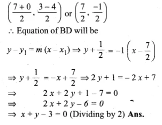 ML Aggarwal Class 10 Solutions for ICSE Maths Chapter 12 Equation of a Straight Line Chapter Test Q13.2