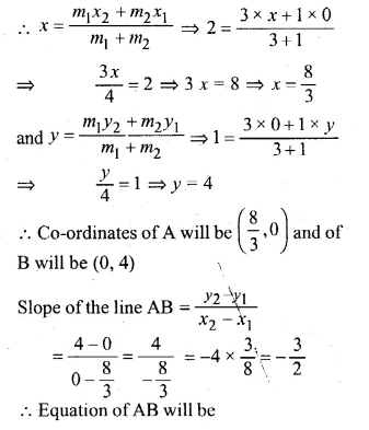 ML Aggarwal Class 10 Solutions for ICSE Maths Chapter 12 Equation of a Straight Line Chapter Test Q14.2