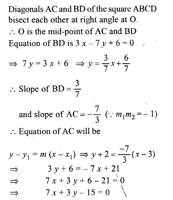ML Aggarwal Class 10 Solutions for ICSE Maths Chapter 12 Equation of a Straight Line Chapter Test Q16.2