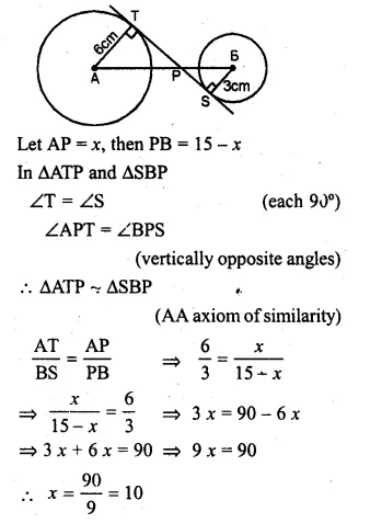 ML Aggarwal Class 10 Solutions for ICSE Maths Chapter 15 Circles Ex 15.3 Q17.1