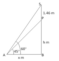 RS Aggarwal Solutions Class 10 Chapter 14Height and Distance Ex 14a 14