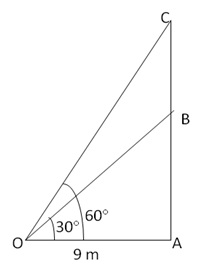 RS Aggarwal Solutions Class 10 Chapter 14Height and Distance Ex 14a 18