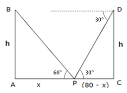 RS Aggarwal Solutions Class 10 Chapter 14Height and Distance Ex 14a 20