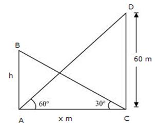 RS Aggarwal Solutions Class 10 Chapter 14Height and Distance Ex 14a 30