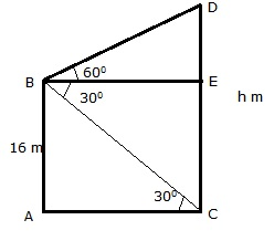 RS Aggarwal Solutions Class 10 Chapter 14Height and Distance Ex 14a 44