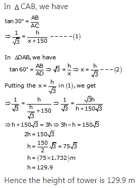 RS Aggarwal Solutions Class 10 Chapter 14Height and Distance Ex 14a 51