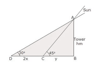 RS Aggarwal Solutions Class 10 Chapter 14Height and Distance MCQ 23