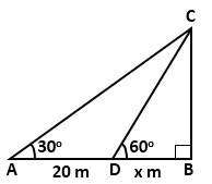 RS Aggarwal Solutions Class 10 Chapter 14Height and Distance MCQ 38