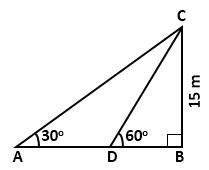 RS Aggarwal Solutions Class 10 Chapter 14Height and Distance MCQ 44