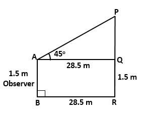 RS Aggarwal Solutions Class 10 Chapter 14Height and Distance MCQ 46
