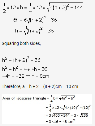 RS Aggarwal Solutions Class 10 Chapter 17 Perimeter and Areas of Plane Figures Ex 17a 22
