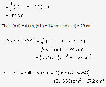 RS Aggarwal Solutions Class 10 Chapter 17 Perimeter and Areas of Plane Figures Ex 17b 33