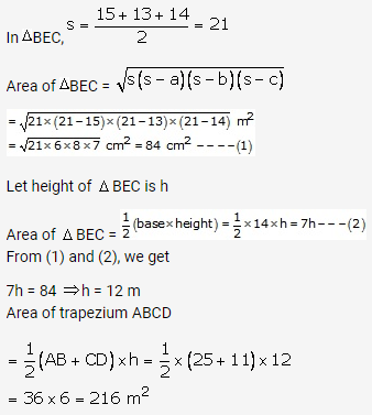 RS Aggarwal Solutions Class 10 Chapter 17 Perimeter and Areas of Plane Figures Ex 17b 43