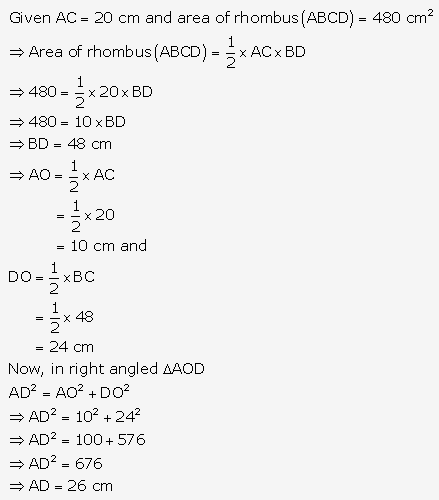 RS Aggarwal Solutions Class 10 Chapter 17 Perimeter and Areas of Plane Figures MCQ 21