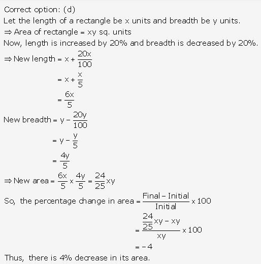 RS Aggarwal Solutions Class 10 Chapter 17 Perimeter and Areas of Plane Figures MCQ 6