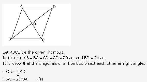 RS Aggarwal Solutions Class 10 Chapter 17 Perimeter and Areas of Plane Figures Test Yourself 12