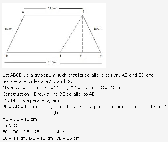 RS Aggarwal Solutions Class 10 Chapter 17 Perimeter and Areas of Plane Figures Test Yourself 14