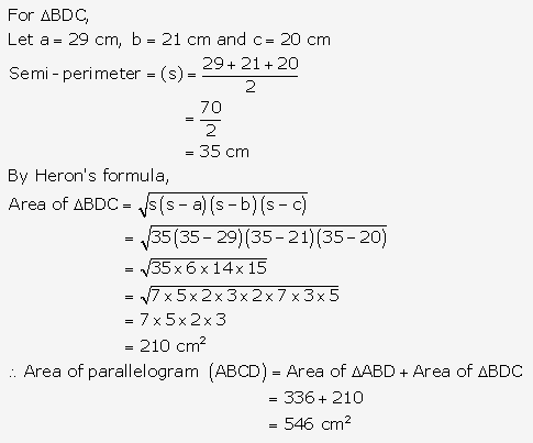 RS Aggarwal Solutions Class 10 Chapter 17 Perimeter and Areas of Plane Figures Test Yourself 19