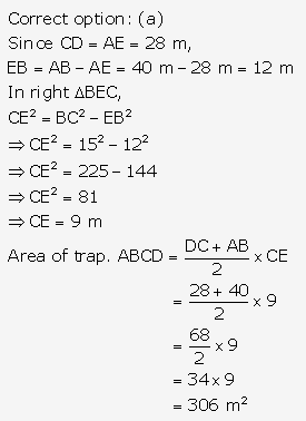 RS Aggarwal Solutions Class 10 Chapter 17 Perimeter and Areas of Plane Figures Test Yourself 2
