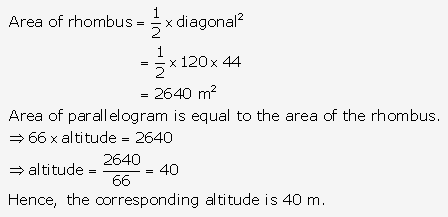 RS Aggarwal Solutions Class 10 Chapter 17 Perimeter and Areas of Plane Figures Test Yourself 20