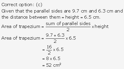 RS Aggarwal Solutions Class 10 Chapter 17 Perimeter and Areas of Plane Figures Test Yourself 4