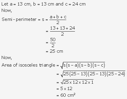 RS Aggarwal Solutions Class 10 Chapter 17 Perimeter and Areas of Plane Figures Test Yourself 6