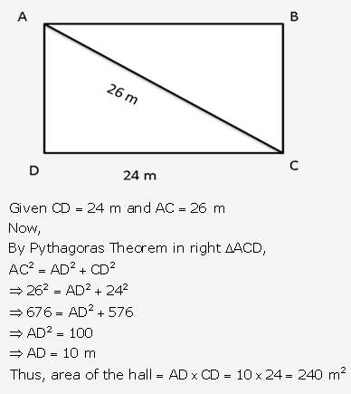 RS Aggarwal Solutions Class 10 Chapter 17 Perimeter and Areas of Plane Figures Test Yourself 7
