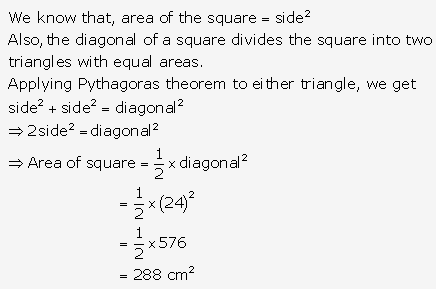 RS Aggarwal Solutions Class 10 Chapter 17 Perimeter and Areas of Plane Figures Test Yourself 8