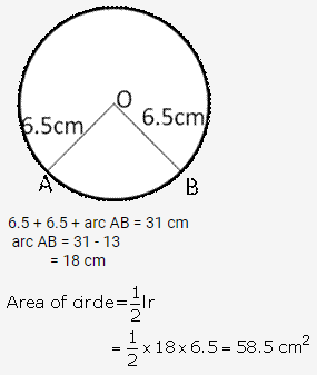 RS Aggarwal Solutions Class 10 Chapter 18 Areas of Circle, Sector and Segment Ex 18a 22