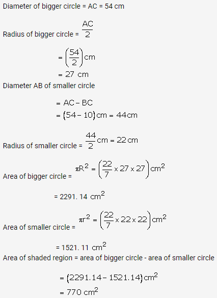 RS Aggarwal Solutions Class 10 Chapter 18 Areas of Circle, Sector and Segment Ex 18a 49