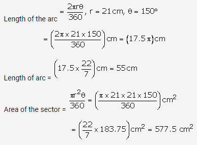 RS Aggarwal Solutions Class 10 Chapter 18 Areas of Circle, Sector and Segment Ex 18b 11