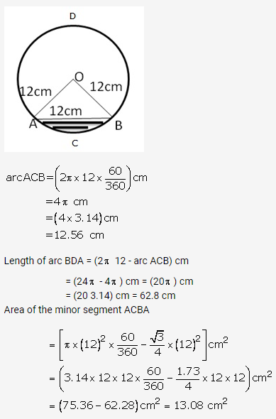 RS Aggarwal Solutions Class 10 Chapter 18 Areas of Circle, Sector and Segment Ex 18b 15