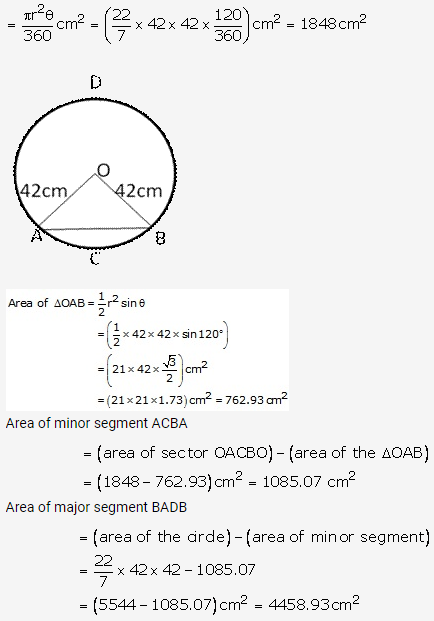 RS Aggarwal Solutions Class 10 Chapter 18 Areas of Circle, Sector and Segment Ex 18b 18