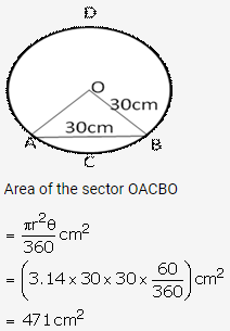 RS Aggarwal Solutions Class 10 Chapter 18 Areas of Circle, Sector and Segment Ex 18b 19