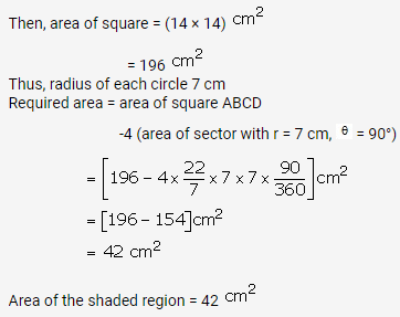 RS Aggarwal Solutions Class 10 Chapter 18 Areas of Circle, Sector and Segment Ex 18b 42