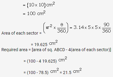 RS Aggarwal Solutions Class 10 Chapter 18 Areas of Circle, Sector and Segment Ex 18b 44