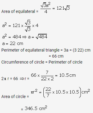 RS Aggarwal Solutions Class 10 Chapter 18 Areas of Circle, Sector and Segment Ex 18b 5