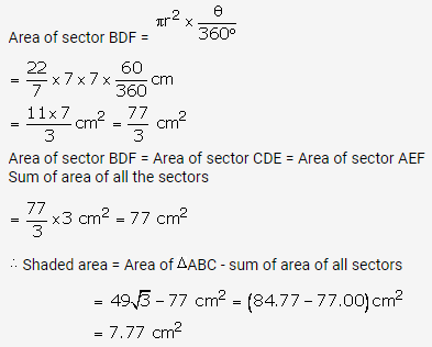 RS Aggarwal Solutions Class 10 Chapter 18 Areas of Circle, Sector and Segment Ex 18b 64