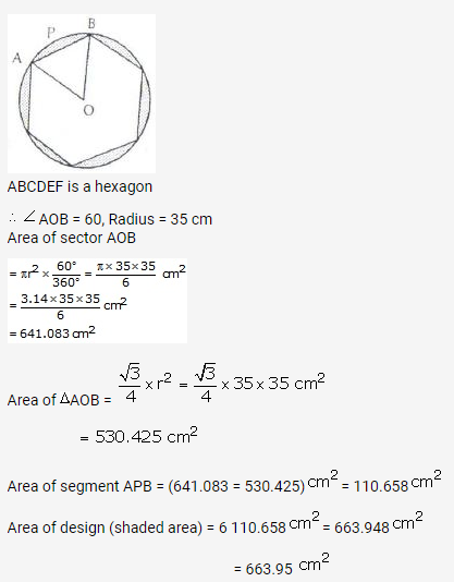 RS Aggarwal Solutions Class 10 Chapter 18 Areas of Circle, Sector and Segment Ex 18b 68