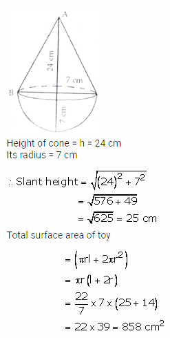 RS Aggarwal Solutions Class 10 Chapter 19 Volume and Surface Areas of Solids Ex 19a 16
