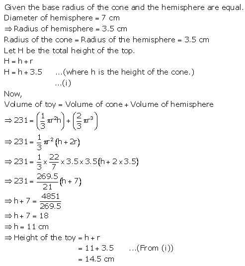 RS Aggarwal Solutions Class 10 Chapter 19 Volume and Surface Areas of Solids Ex 19a 17