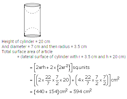 RS Aggarwal Solutions Class 10 Chapter 19 Volume and Surface Areas of Solids Ex 19a 24