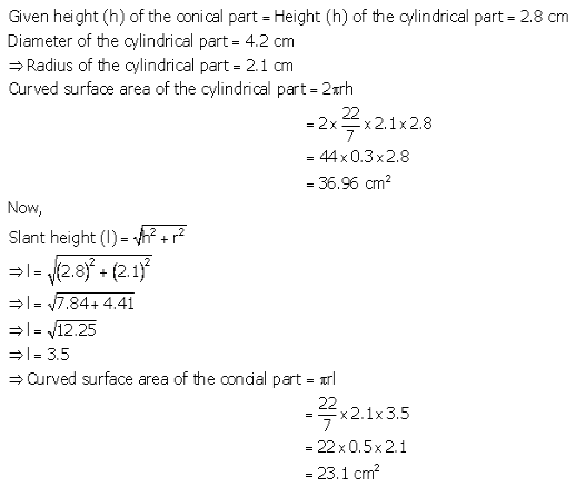 RS Aggarwal Solutions Class 10 Chapter 19 Volume and Surface Areas of Solids Ex 19a 28