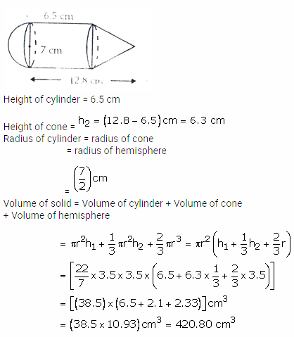 RS Aggarwal Solutions Class 10 Chapter 19 Volume and Surface Areas of Solids Ex 19a 34